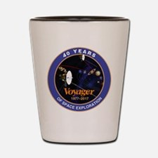 Voyager At 40! Shot Glass