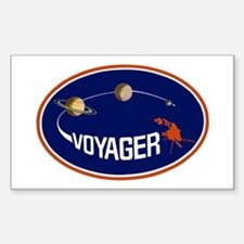 Voyager Program Logo Sticker (rectangle)