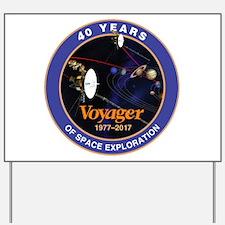 Voyager At 40! Yard Sign