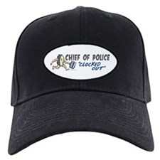 Clocked Out Chief Of Police Baseball Hat