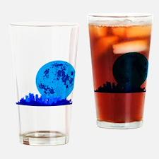 Blue City Drinking Glass