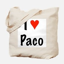 I love Paco Tote Bag