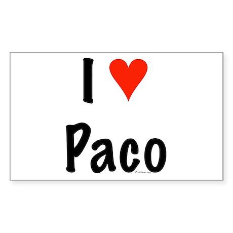 I love Paco Rectangle Sticker