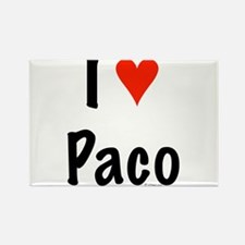 I love Paco Rectangle Magnet
