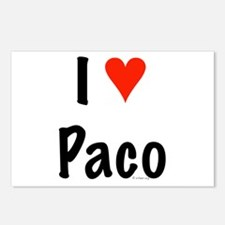 I love Paco Postcards (Package of 8)