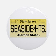 Seaside Heights NJ Tag Giftware Round Ornament