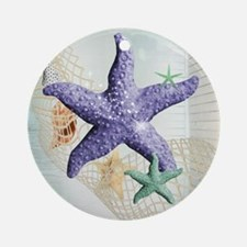 Beach Treasure of The Sea Round Ornament