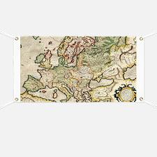 Cute Europe map Banner