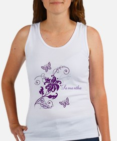 Purple Butterflies and Vines Women's Tank Top
