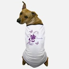 Purple Butterflies and Vines Dog T-Shirt