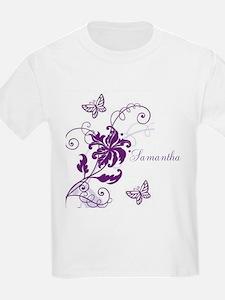 Purple Butterflies and Vines T-Shirt