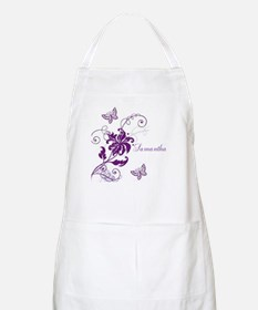 Purple Butterflies and Vines Apron