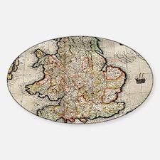 Antique maps Sticker (Oval)