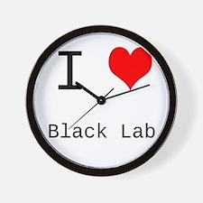 I Heart Personalized Wall Clock