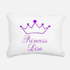 Purple Princess Crown Rectangular Canvas Pillow
