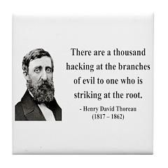 Henry David Thoreau 34 Tile Coaster