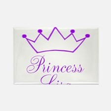 Purple Princess Crown Rectangle Magnet