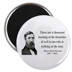 "Henry David Thoreau 34 2.25"" Magnet (10 pack)"