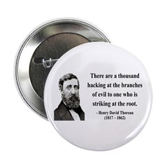 "Henry David Thoreau 34 2.25"" Button"