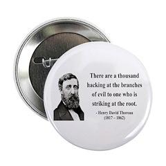 "Henry David Thoreau 34 2.25"" Button (10 pack)"