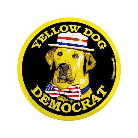 "New Yellow Dog Democrat 3.5"" Button (100 pack)"