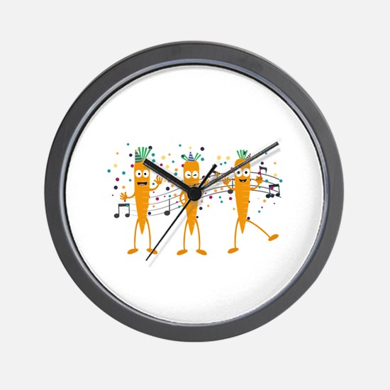 Party carrots Wall Clock