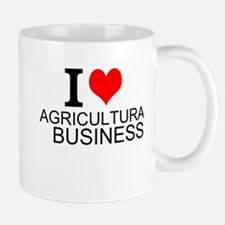 I Love Agricultural Business Mugs