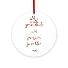 My grandkids are perfect, jus Ornament (Round)