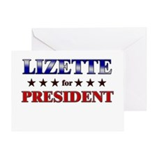 LIZETTE for president Greeting Card