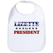 LIZETTE for president Bib