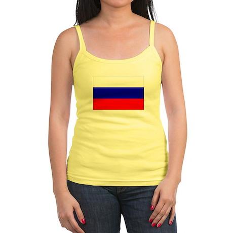 Russian Flag Jr. Spaghetti Tank