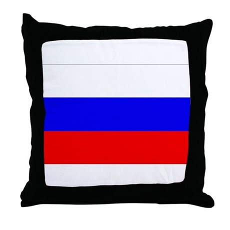 Russian Flag Throw Pillow