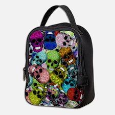 Colorful Multi-Skulls Neoprene Lunch Bag
