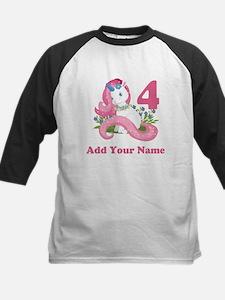 Unicorn Birthday Kids Baseball Jersey