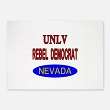 UNLV Rebel Democrat 5'x7'Area Rug