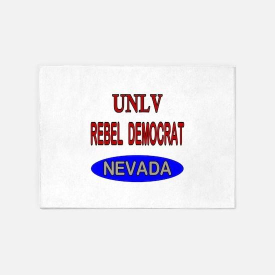 UNLV Rebel Democrat 5'x7'Area Rug