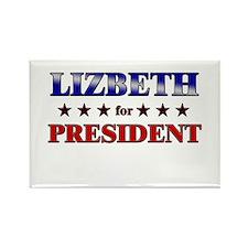LIZBETH for president Rectangle Magnet