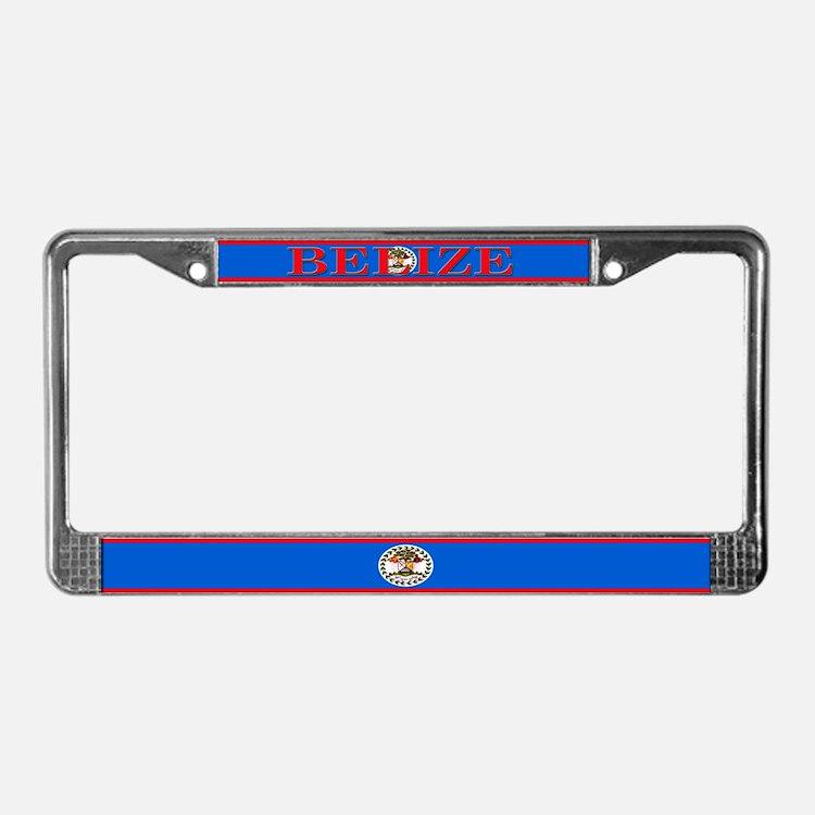 Belize Blank Flag License Plate Frame