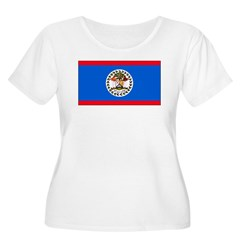 Belize Blank Flag T-Shirt