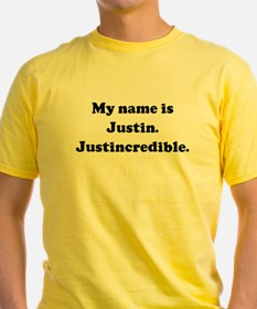 My name is Justin. Justincred Ash Grey T-Shirt