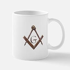 Wooden Masonic Emblem Mugs