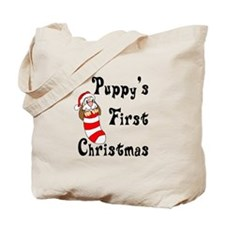 Puppy's First Christmas Tote Bag