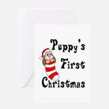 Puppy's First Christmas Greeting Card