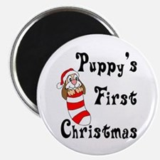 Puppy's First Christmas Magnet