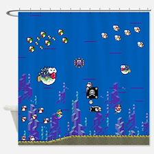 Mario Water Scene - Shower Curtain Shower Curtain