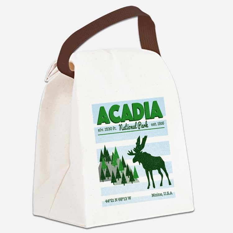 Cute Acadia national park Canvas Lunch Bag