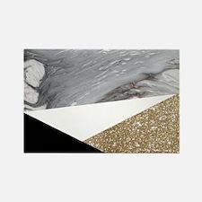 Geometric gold glitter Marble Magnets