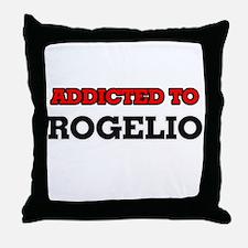 Addicted to Rogelio Throw Pillow
