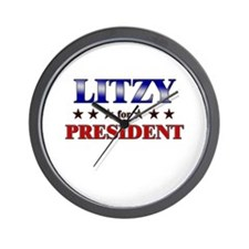 LITZY for president Wall Clock