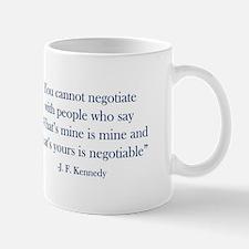JFK Negotiate Mugs